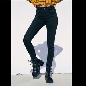 Levi's 721 High Rise Skinny Jeans Stretch Black 26